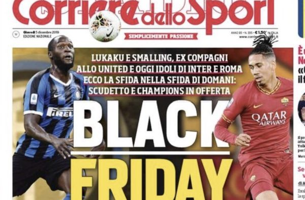 Corriere dello Sport Provoke Outrage with Racist 'Black Friday' Cover
