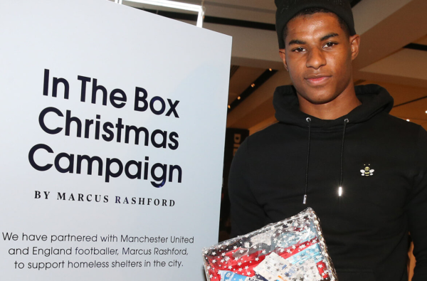 Marcus Rashford Has Launched His Own Campaign to Support Homeless Shelters in Manchester This Christmas