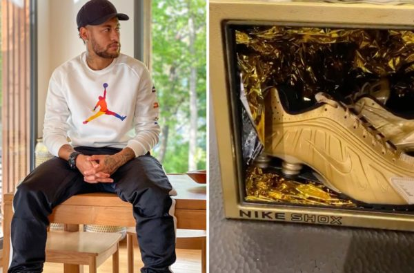 Neymar Teases Two All-Gold Versions of his Signature Nike Shox Silhouettes
