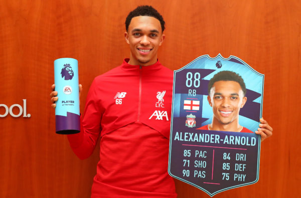 Trent Alexander-Arnold Receives Beasted 88-Rated Card After Winning Premier League Player of the Month Award