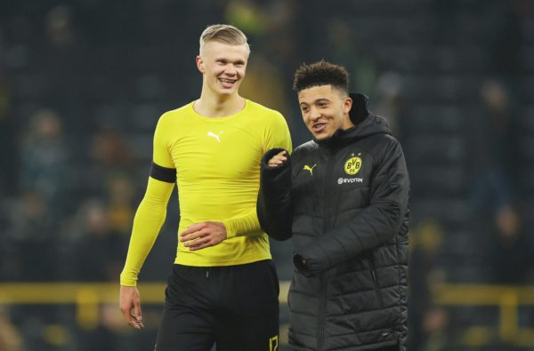 "Jadon Sancho Says he's Relishing Playing with ""Great Goalscorer"" Erling Haaland"