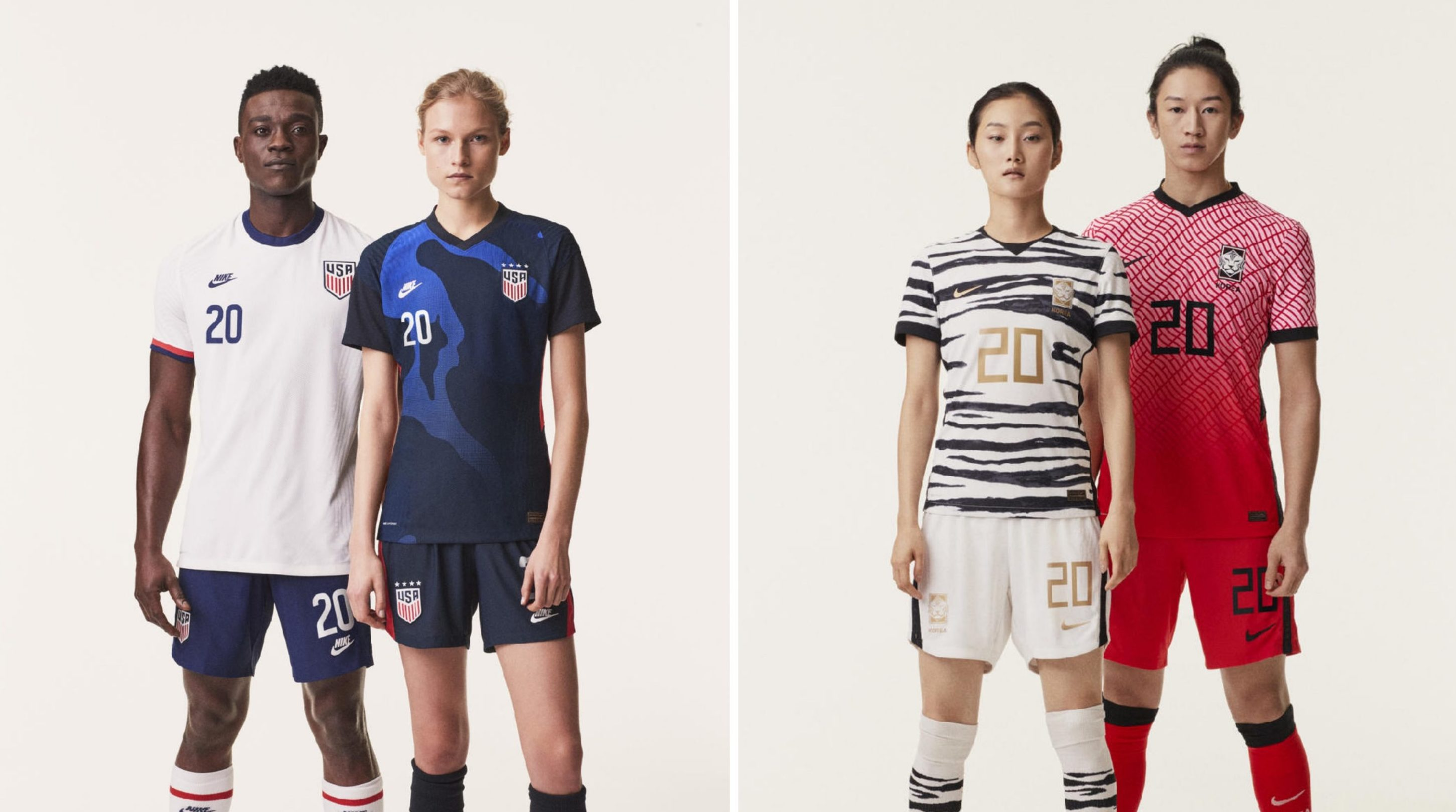 Nike Bless USA and South Korea With Drippy Bespoke Kits for 2020