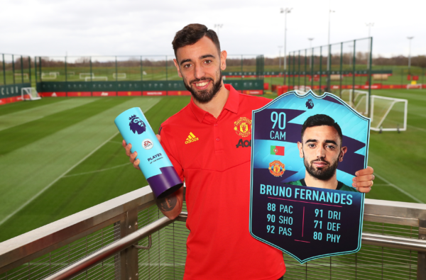Bruno Fernandes Gets Blessed With a Stacked FIFA 20 Card After Winning February POTM