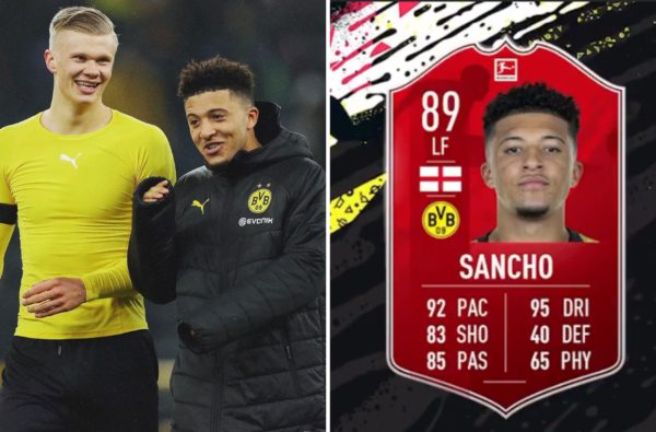 Jadon Sancho Receives a Charged-Up 89-Rated Card After Winning Bundesiga POTM Award for February