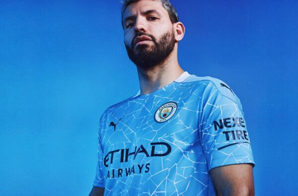 PUMA Drop Off Icy, Mosaic-Inspired 2020/21 Home Kit for Manchester City
