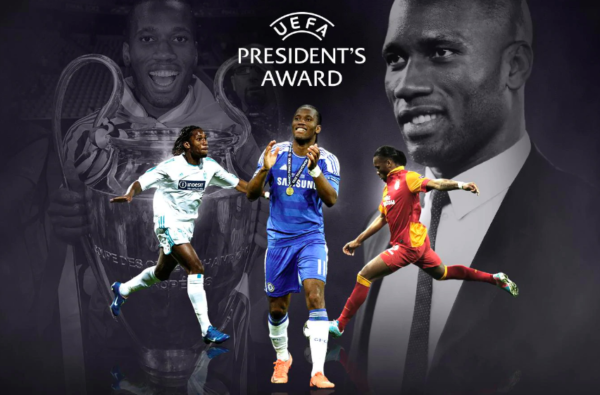 """Chelsea Legend Didier Drogba Wins 2020 UEFA President's Award for """"Commitment to Excellence On and Off the Pitch"""""""