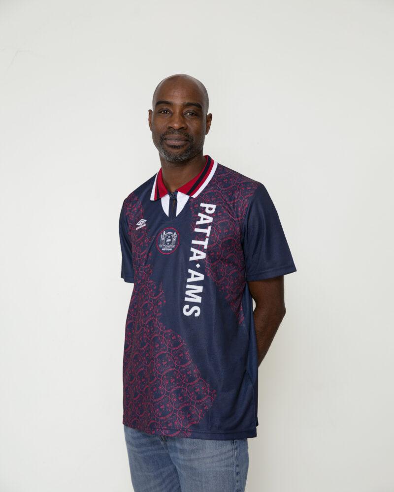Edgar Davids Flexes Patta And Umbro U0026 39 S Latest Collab Shirt