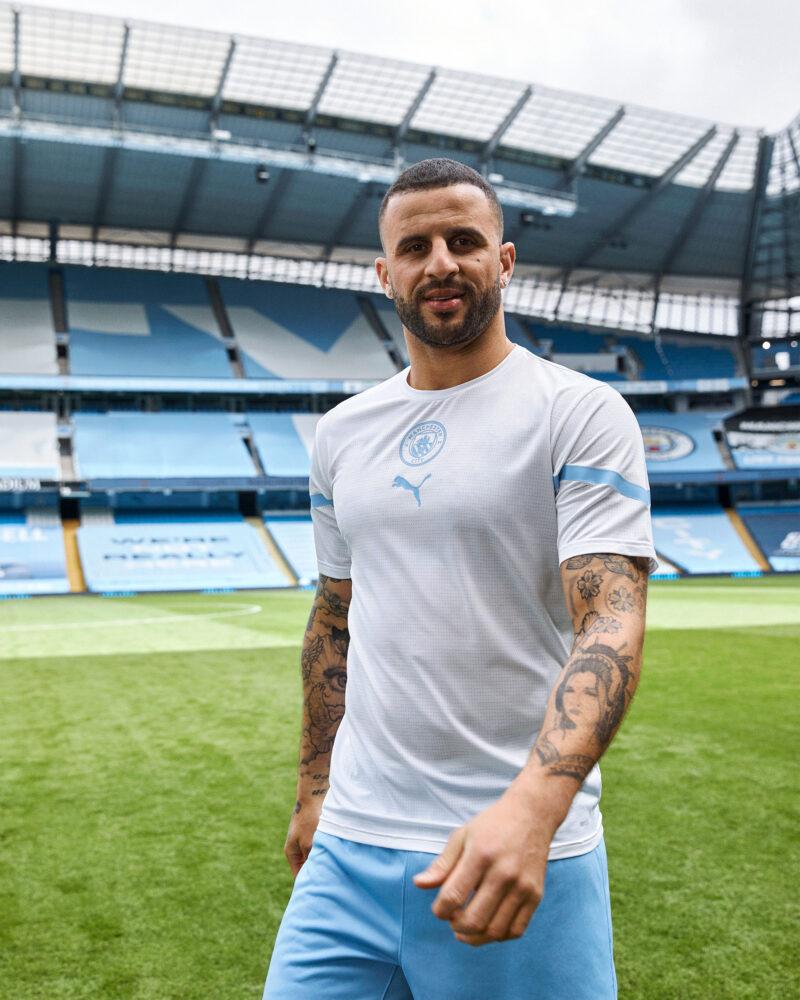 Puma Celebrate Sergio Aguero S Iconic 93 20 Goal For Man City S 2021 22 Home Shirt