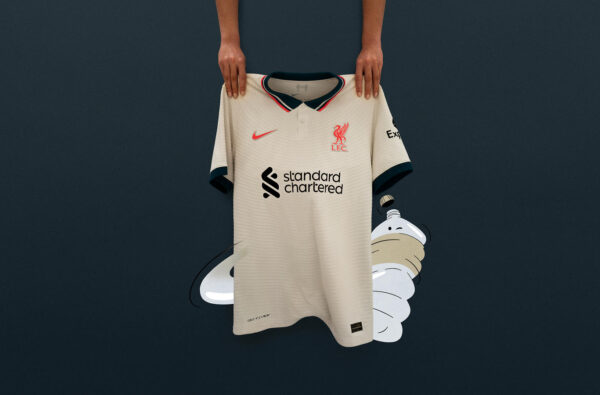 Nike and Liverpool Reference a Classic for the Club's Clean 2021/22 Away Jersey