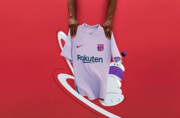 Nike and Barcelona Fuse Red and Blue for Eye-Catching Purple 21/22 Away Shirt