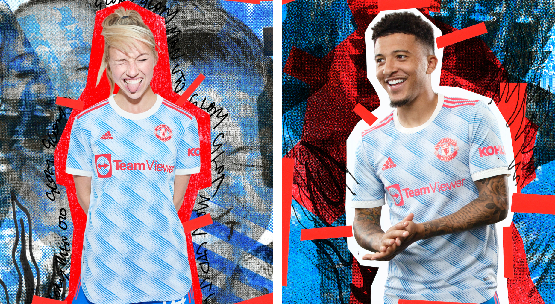 adidas and Manchester United Drop a New Away Kit Inspired by the Club's Iconic 'Snowflake' Shirt from 92