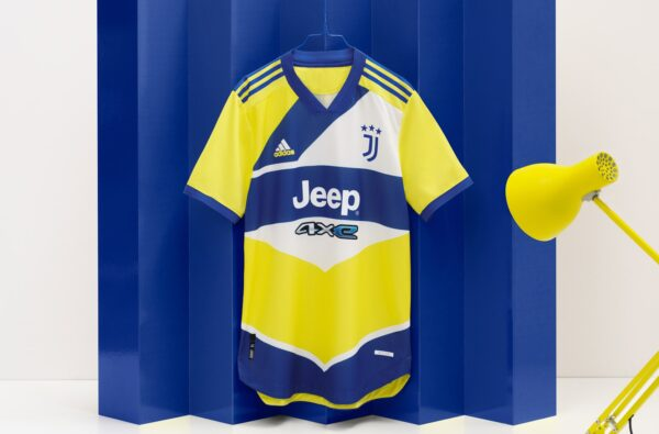 adidas Dress Juventus' Third Kit in Yellow and Blue for the 2021/22 Season