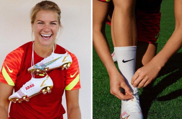 Ada Hegerberg Set to Wear Gold-Tinted Nike Mercurial 14 Boots Customised by Season Zine