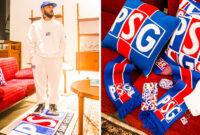PSG and Over The Pitch Drop New Collection Inspired by the Club's 1990s Crest